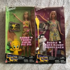 Set of Looney Toons Barbies